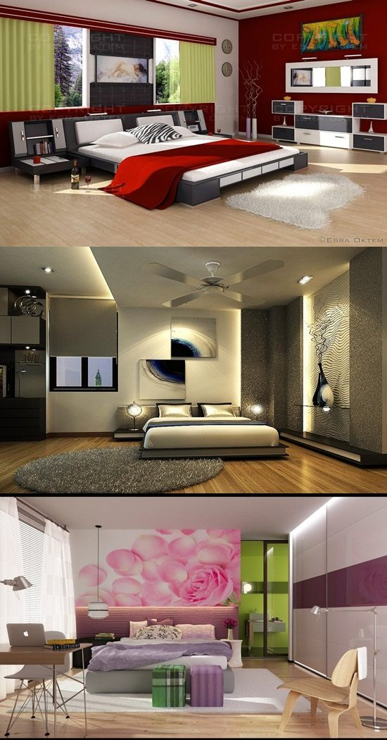 Modern Colorful Bedroom Renovation To Enhance Your Home Value Interior Design